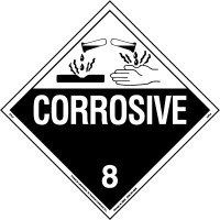 corrosive placard class 8