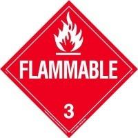 flammable placard class 3