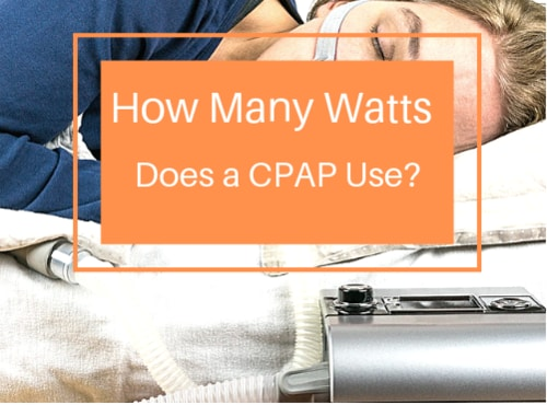 how many watts does a cpap use