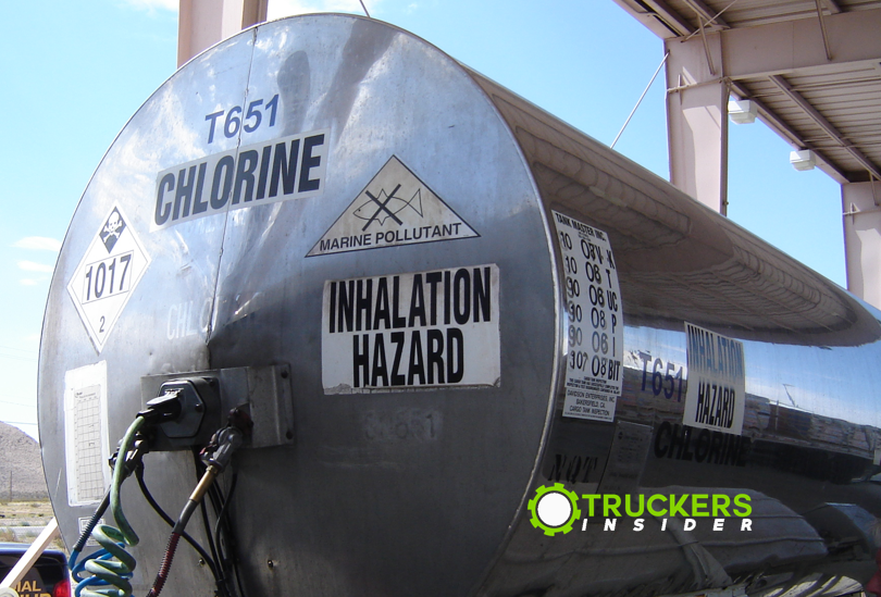 chlorine cargo tank placard and markings