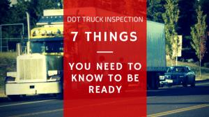 dot truck inspection