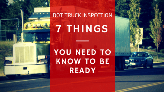 dot truck inspection