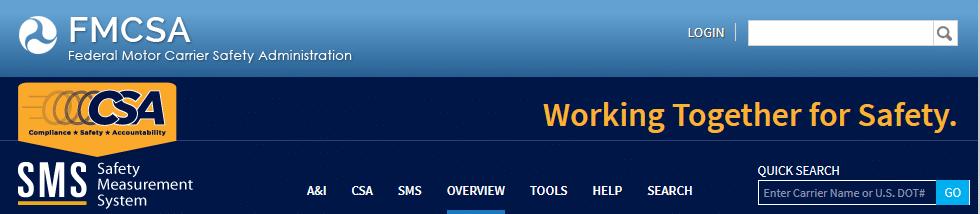 FMCSA CSA website