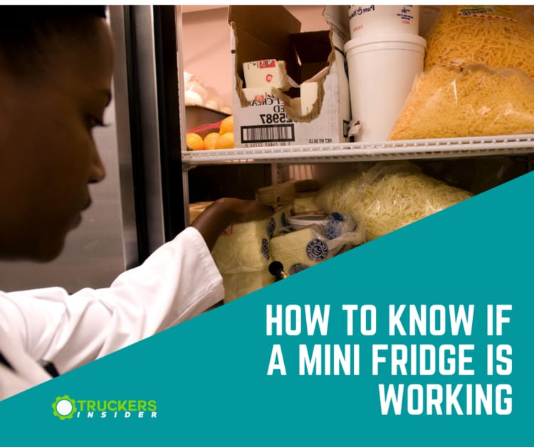 how to know if a mini fridge is working