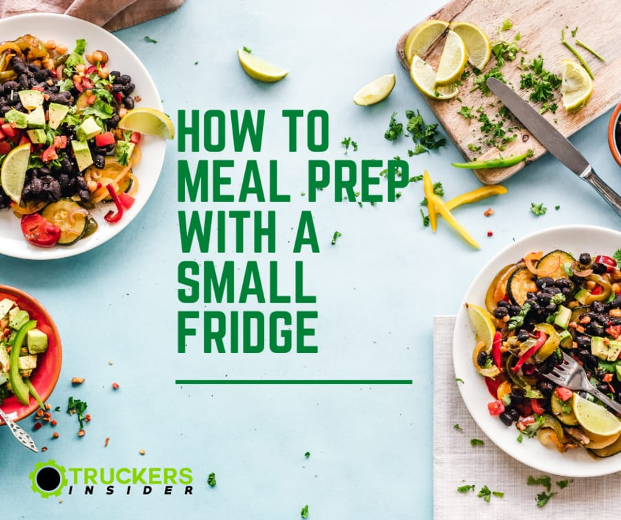 how to meal prep with a small fridge