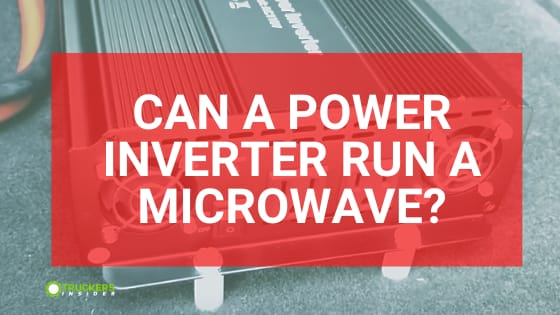 can a power inverter run a microwave